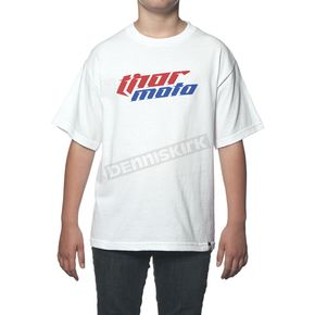 Thor Youth White Total Moto T-Shirt - 3032-2216