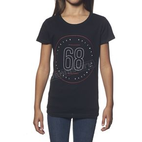 Thor Girls Black Button T-Shirt - 3032-2329