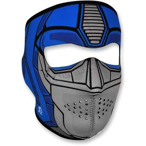 Zan Headgear Blue/Silver Neoprene Guardian Full Face Mask - WNFM086