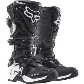Fox Black/White Womens Comp 5 Boots - 16450-018-11