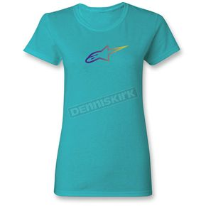 Alpinestars Women's Blue Ageless Gradient T-Shirt - 1W3572055072M