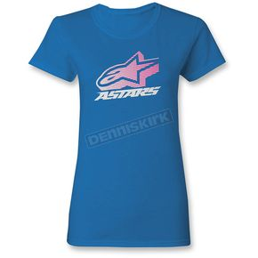 Alpinestars Women's Turquoise Crown T-Shirt - 1W357205776S