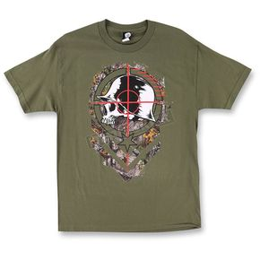 Metal Mulisha Mens Olive Sight T-Shirt  - M455S18411MGN2X