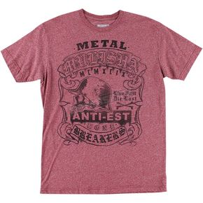 Metal Mulisha Mens Burgundy Mock T-Shirt  - M455S18434BURXL