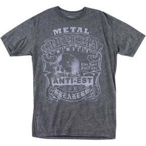 Metal Mulisha Mens Charcoal Mock T-Shirt  - M455S18434CHAXL