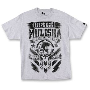 Metal Mulisha Mens Heather Grey Chalk T-Shirt  - M455S18407HGRL
