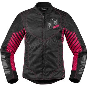 Icon Women's Black/Pink Wireform Jacket - 2822-0830