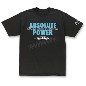 FMF Black Burnout T-Shirt - F351S18133BLK2X