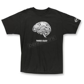 FMF Black Think Faster T-Shirt - F351S18124BLKXL