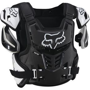 Fox Black/White Raptor CE Chest Deflector - 12351-018-L/XL