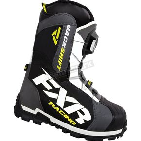 FXR Racing Charcoal/Hi-Vis Backshift Boa Boots - 16503.20708