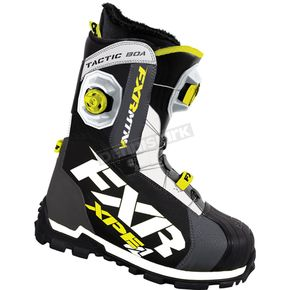 FXR Racing Charcoal/White/Hi-Vis Tactic Boa Focus Boots - 15500.20707