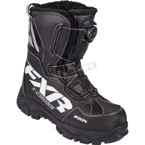 FXR Racing Black X-Cross BOA Boots - 16507.10004