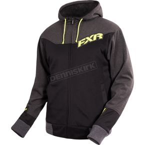 FXR Racing Black/Charcoal/Hi-Vis Terrain Sherpa Tech Hoody - 16039.20107