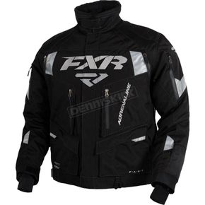 FXR Racing Black/Silver Adrenaline Jacket - 15111.10110