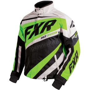 FXR Racing Black/Electric Lime/White Cold Cross X Jacket - 16008.71007