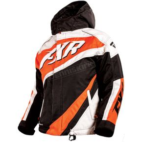 FXR Racing Youth Black/White Weave/Orange Cold Cross Jacket - 16309.30114