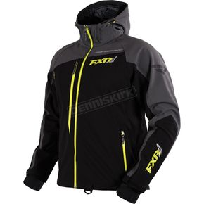 FXR Racing Black/Charcoal/Hi-Vis Mission Softshell Jacket - 16030.70110