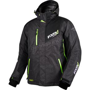 FXR Racing Black Heather/Electric Lime Recoil Jacket - 16007.12713