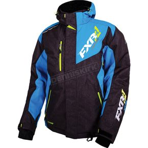 FXR Racing Black/Blue/Hi-Vis Recoil Jacket - 16007.40116