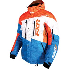 FXR Racing Orange/Blue/White Digi Squadron Jacket - 15107.40319