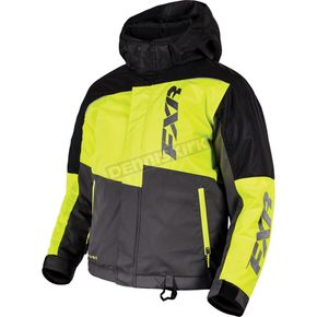 FXR Racing Youth Black/Hi-Vis/Charcoal Squadron Jacket - 16301.70114