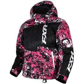 FXR Racing Youth Fuchsia/White Blast Squadron Jacket - 16301.90116
