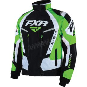 FXR Racing Black/Green/White Team FX Jacket - 16010.71013