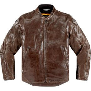 Icon 1000 Brown Leather Retrograde Jacket - 2810-2829