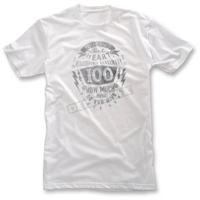 100% White Fullface T-Shirt - 32033-000-10