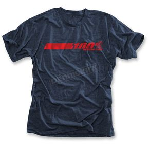 100% Navy Heather Talladega T-Shirt - 32040-015-10