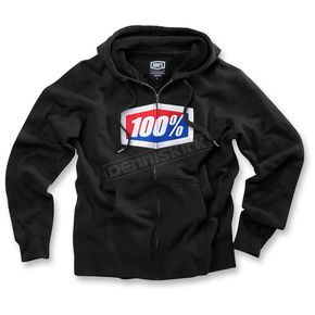100% Black Official Zip Up Fleece - 36005-001-13