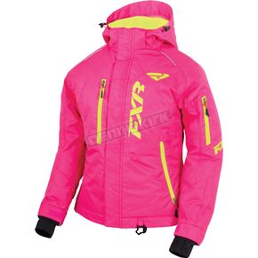 FXR Racing Women's Fuchsia/Hi-Vis Fresh Jacket - 16203.97008