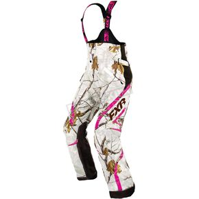 FXR Racing Women's Realtree ApHD Snow/AP Fuchsia Team Pants - 16252.03318