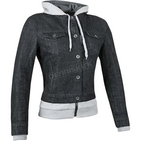 Speed and Strength Womens Black Fast Times Denim Hoody Jacket - 87-1172
