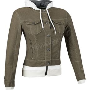 Speed and Strength Womens Brown Fast Times Denim Hoody Jacket - 87-1174