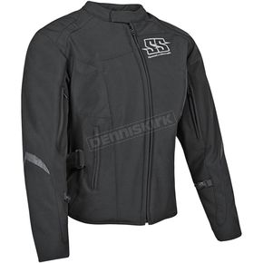 Speed and Strength Womens Black Backlash Textile Jacket - 87-0668