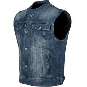 Speed and Strength Blue Soul Shaker Denim Vest - 87-0168