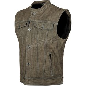 Speed and Strength Brown Soul Shaker Denim Vest - 87-0179