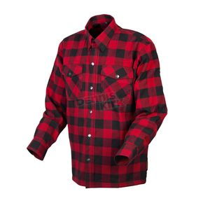 Scorpion Red/Black Covert Flannel Shirt - 13203-3