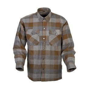 Scorpion Tan/Brown Covert Flannel Shirt - 13303-3