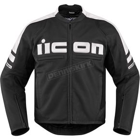Icon Black/White Motorhead 2 Leather Jacket - 2810-2861