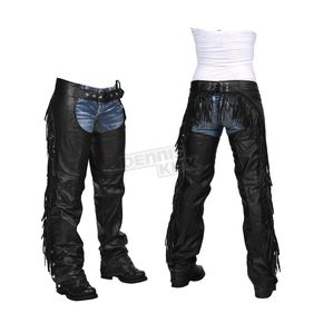 Interstate Leather Women's Black Maxie Chaps - I766L