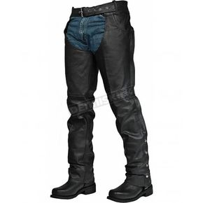 Interstate Leather Unisex Black Rook Chaps - I8072WSXS