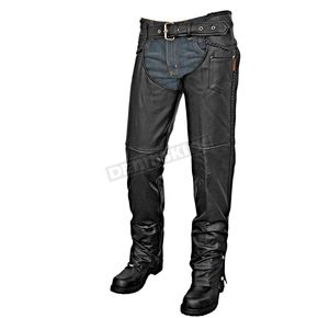 Interstate Leather Black Sergeant Chaps - I8002XXL
