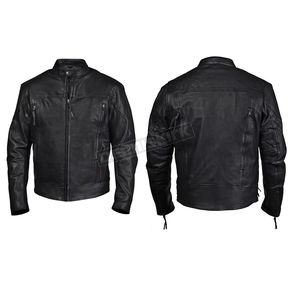 Interstate Leather Black Beretta Leather Jacket - I5089XXL