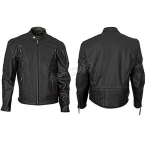 Interstate Leather Black Jax Leather Jacket - I1048L