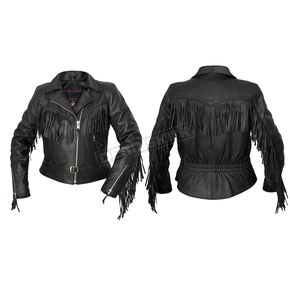 Interstate Leather Women's Black Madonna Leather Jacket - I580XS