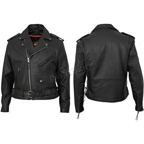Interstate Leather Black Ryder Leather Jacket - I101156