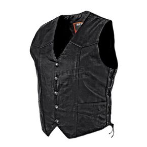 Interstate Leather Black King Vest - I1302XXXL